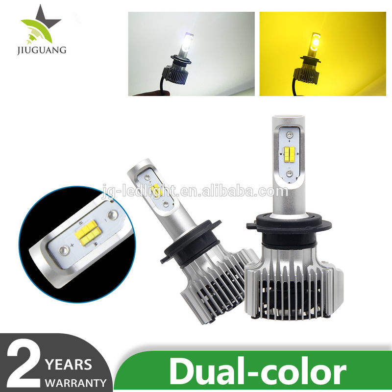 Dual Color Led Auto Fog Lights White Yellow 6500K / 3000k Color Temperature
